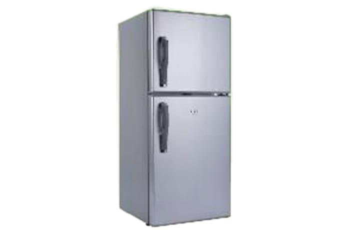 Double Doors Top Freezer Solar Refrigerator with handles
