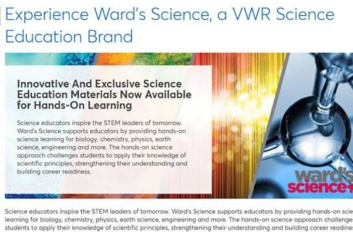 Asian Medicos Enterprise now distribute Avantor and Brand WARD Science products image