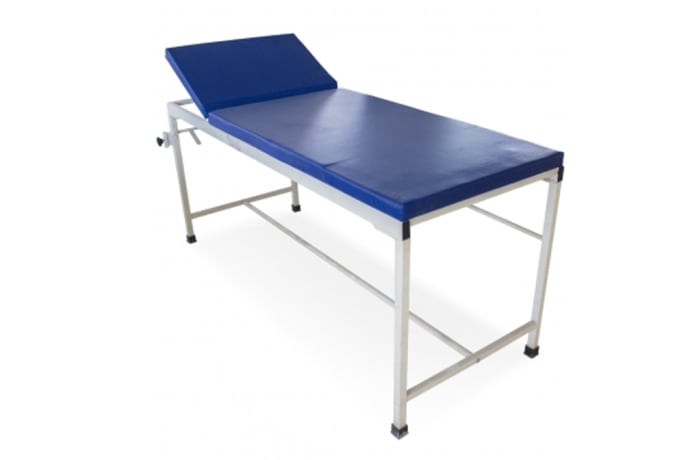 Examination table blue colour