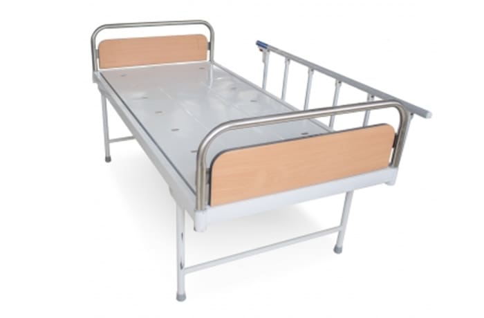 Hospital bed plain with side rail