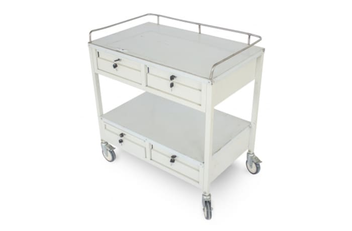 Medicine trolley with shelves