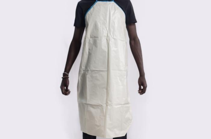 Plastic apron reusable