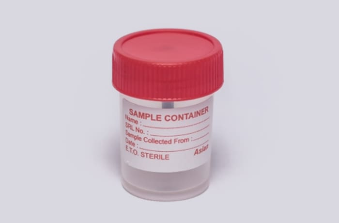 Sterile stool container