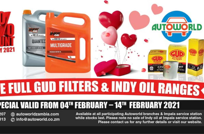 15% off fuel GUD filters and INDY oil ranges image