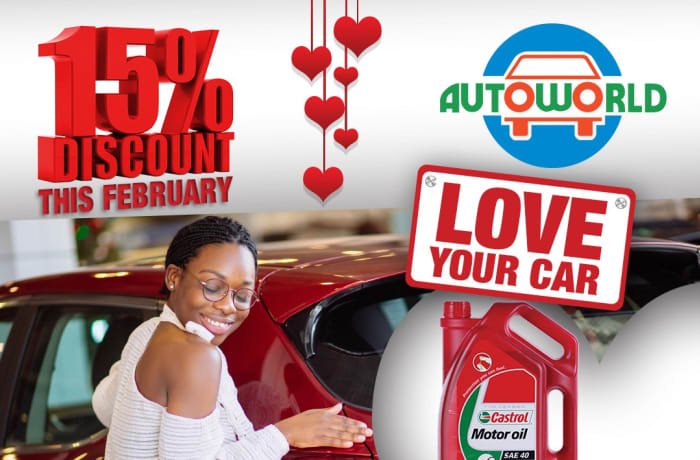 Love your car with 15% off lubricants image