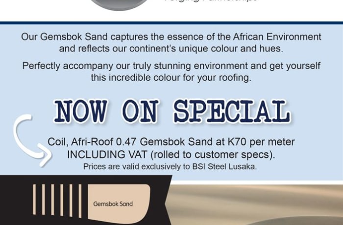 Gemsbok Sand IBR Roofing Sheets now on sale! image