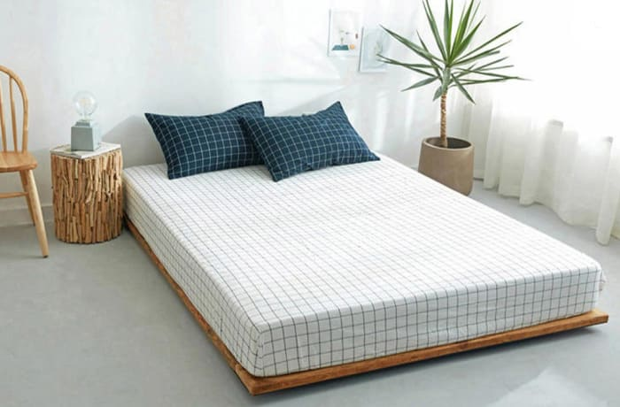 Bed cover sheets 1.5x1.8m  Simmon mattress cover Light blue white - 29043311543