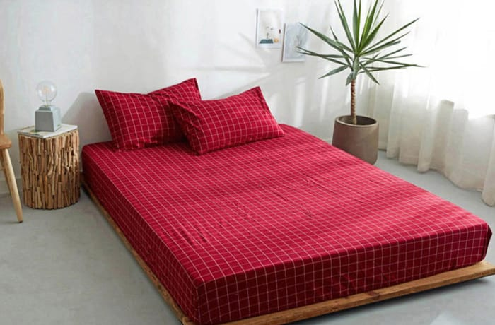 Bed cover sheets 1.5x1.8m  Simmon mattress cover Checked red - 29043311543