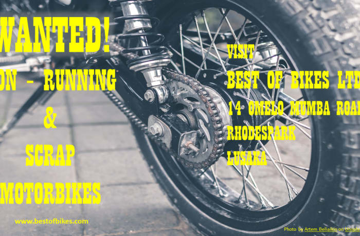 Wanted! non-running and scrap Motorbike image