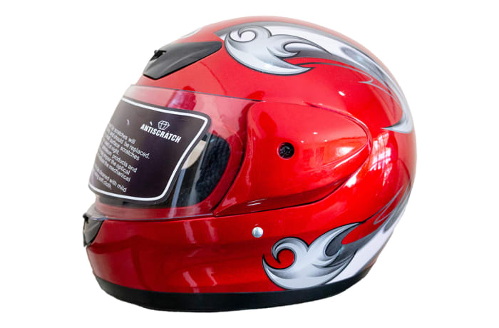 Motorcycle Helmet - Anda Red