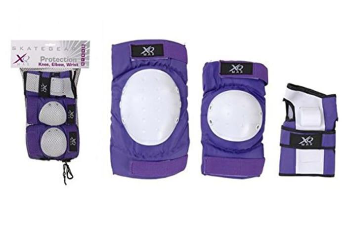 X.Q Max  Purple Bicycle & Skate Pad Set