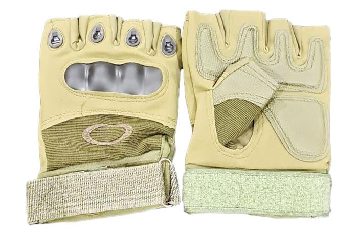 Half-Finger Biking Gloves  - Tan