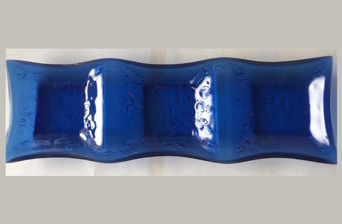 Blue and White 3 in 1 Glass Snack Tray