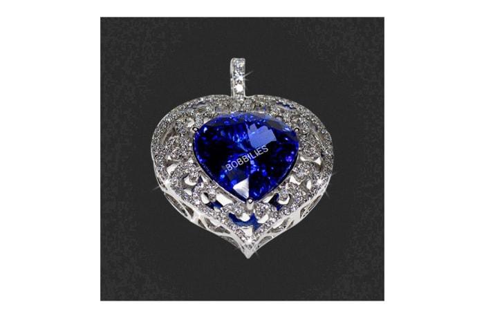 Pear-Shaped Tanzanite & Pavé Diamond Pendant