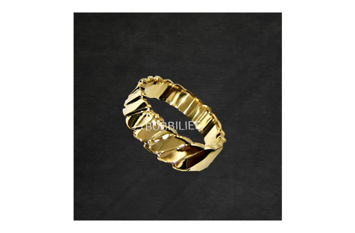 Ring - Men's Gold leafed Wedding ring