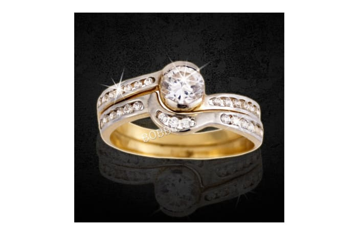 Women's Gold Diamond embedded Wedding ring
