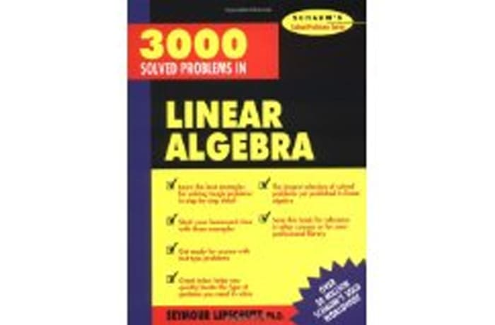 3,000 Solved Problems in Linear Algebra by Seymour Lipschutz
