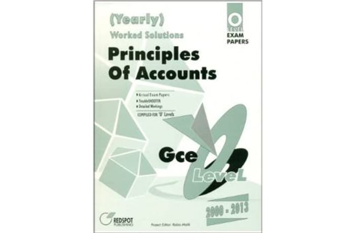 GCE O'Level Principles Of Accounts Yearly