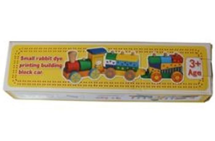 JY – Small rabbit dye printing building block car