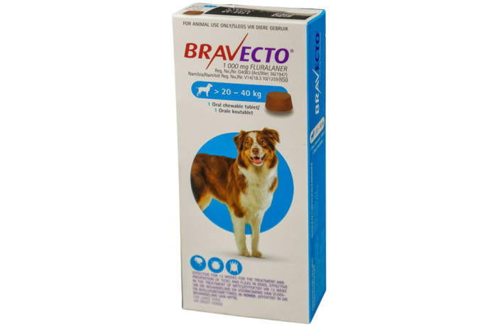 Bravecto Oral Chewable Tablet for Dogs 20-40kg