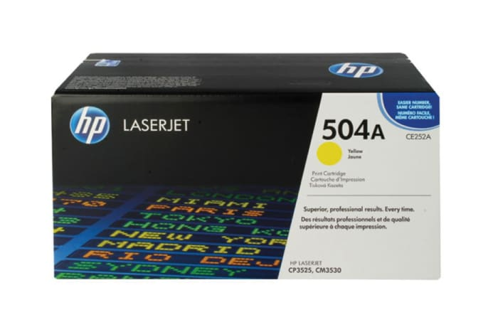 Printer Toner Cartridges - Hewlett Packard CE252A (HP 504A) Yellow Toner Cartridge