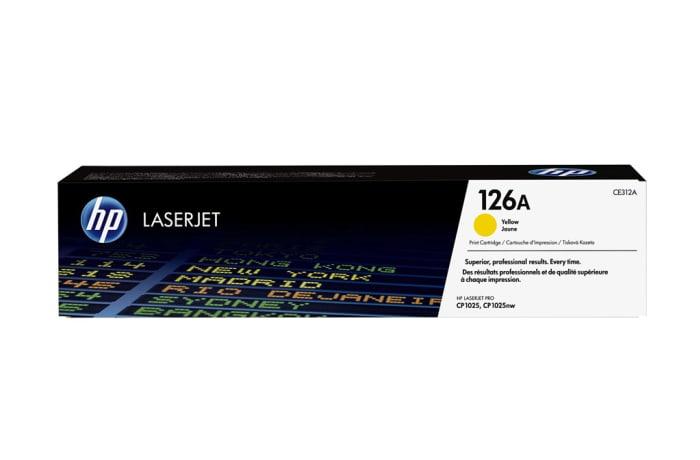Printer Toner Cartridges - Hewlett Packard CE312 (HP 126A) Yellow Toner Cartridge