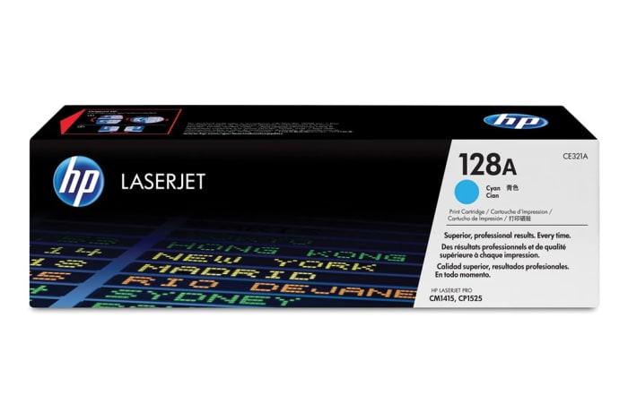Printer Toner Cartridges - Hewlett Packard CE321A (HP 128A) Cyan Toner Cartridge