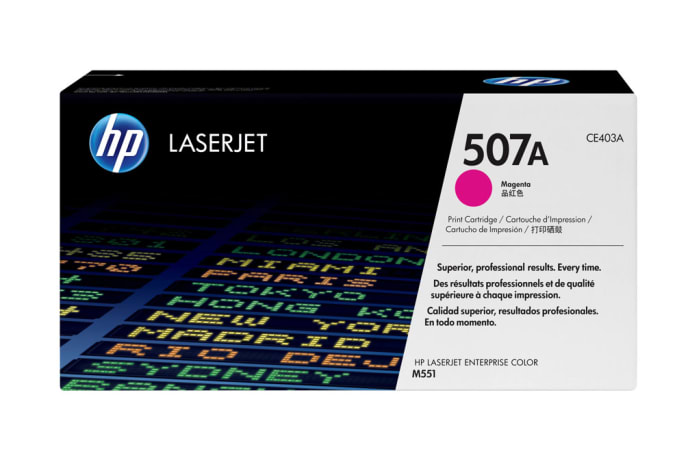 Printer Toner Cartridges - Hewlett Packard CE403A (HP 507A) Magenta  Toner Cartridge