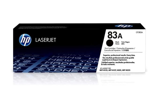 Printer Toner Cartridges - Hewlett Packard CF283A (HP 83A) Black Toner Cartridge