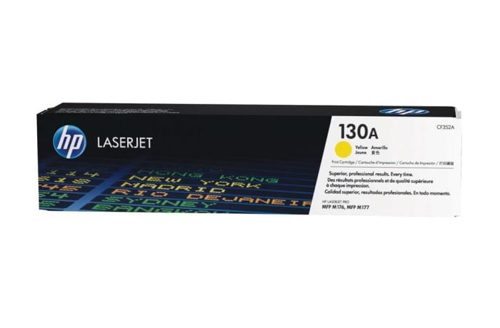 Printer Toner Cartridges - Hewlett Packard CF352A (HP 130A) Yellow Toner Cartridge