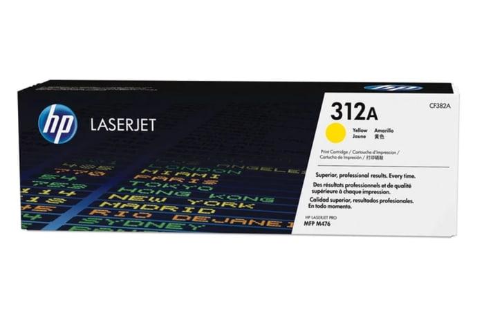 Printer Toner Cartridges - Hewlett Packard CF382A (HP 312A) Yellow Toner Cartridge