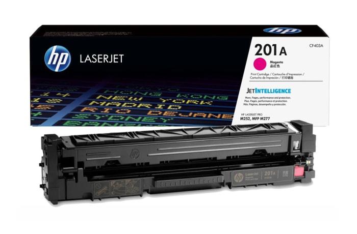Printer Toner Cartridges - Hewlett Packard CF403A (HP 201) Magenta Toner Cartridge