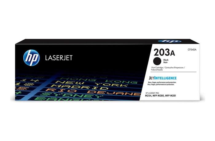 Printer Toner Cartridges - Hewlett Packard CF540A (HP 203A) Black Toner Cartridge