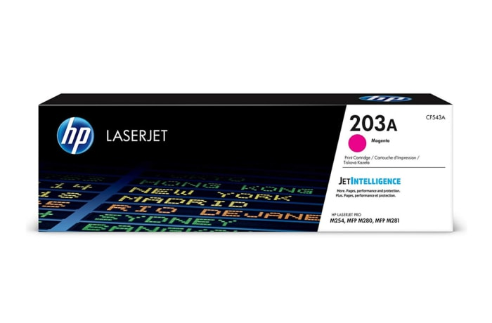 Printer Toner Cartridges - Hewlett Packard CF543A (HP 203A) Magenta Toner Cartridge