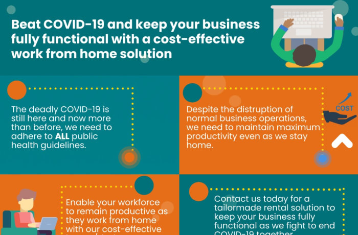 Beat Covid -19 and keep your business fully functional with a cost - effective work from home solution image