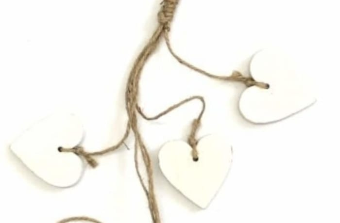 Decorative Wooden Hanging Hearts