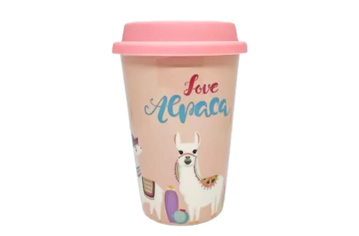 Ceramic Mug Cup With Lid - Love Lama