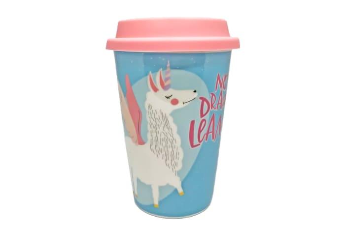 Ceramic Mug Cup With Lid - No Drama Llama