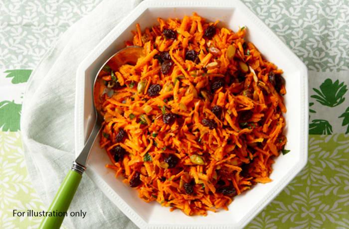 Milile Wedding Option 4 - Salads - Carrot and Raisins