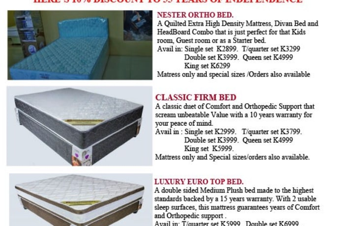 10% off beds image