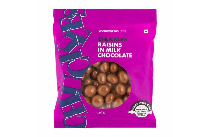 Chuckles Raisins In Milk Chocolate