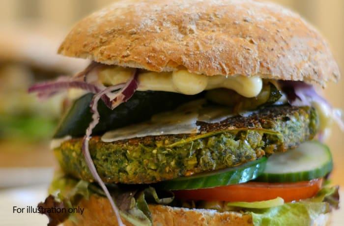 Burgers- Vegetarian - Haloumi & Falafel Burger