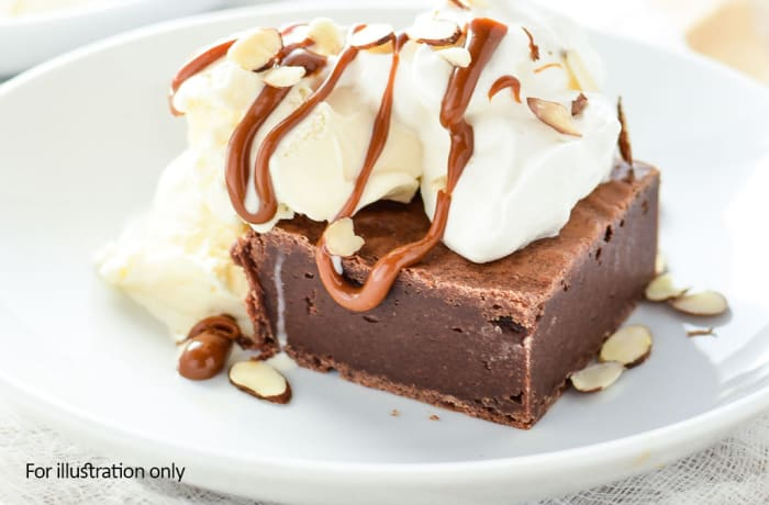 Desserts - Chocolate Brownie with Ice Cream