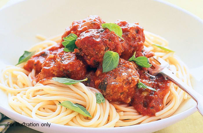 Kiddies Menu - Spaghetti with Meatballs
