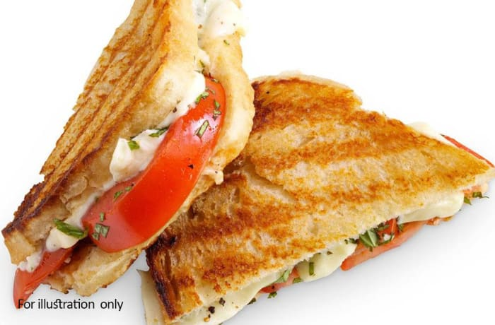 Kiddies Menu - Toasted Cheese & Tomato Sandwich
