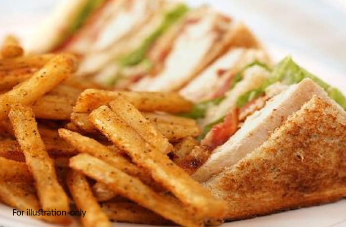 Kiddies Menu - Toasted Chicken Mayonnaise Sandwich