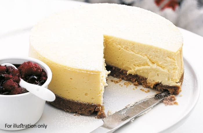 Night Menu - Baked Lemon Cheesecake