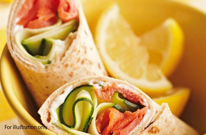 Wraps, Sandwiches & Rolls - Salmon Wrap
