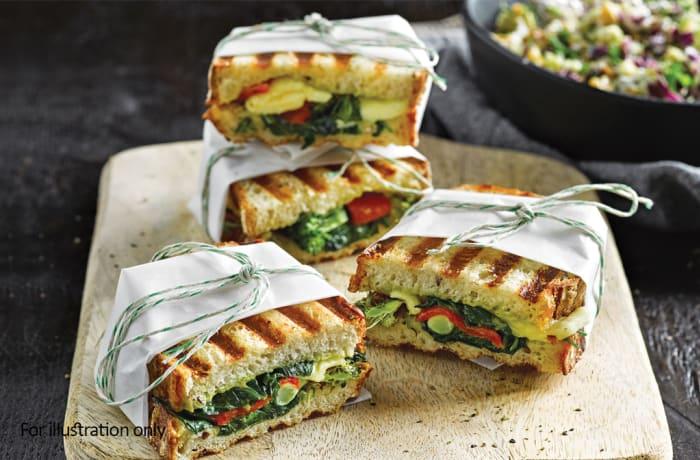Wraps, Sandwiches & Rolls - Vegetarian Toastie