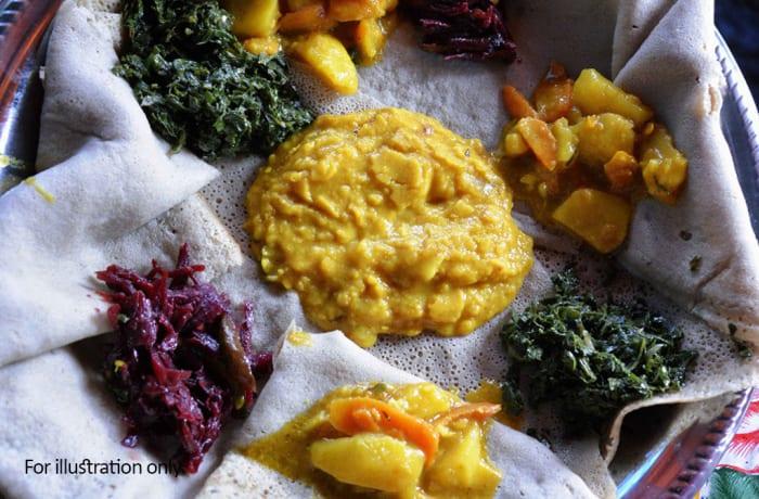 Zambian Fusion Dishes - Vegetarian - Zambian Vegetable Platter